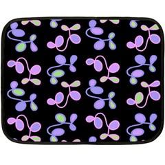 Purple Garden Fleece Blanket (mini) by Valentinaart