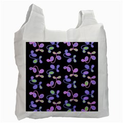 Purple Garden Recycle Bag (two Side)  by Valentinaart