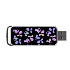 Purple Garden Portable Usb Flash (two Sides) by Valentinaart