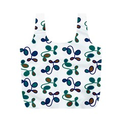Green Garden Full Print Recycle Bags (m)  by Valentinaart