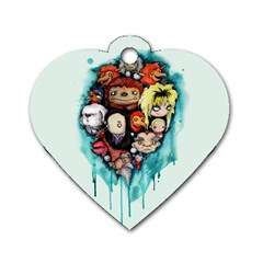 Should You Need Us 2 0 Dog Tag Heart (two Sides) by lvbart