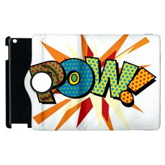 Comic Book Pow! Sans  Apple Ipad 3/4 Flip 360 Case by ComicBookPOP