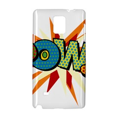 Comic Book Pow! Sans  Samsung Galaxy Note 4 Hardshell Case by ComicBookPOP
