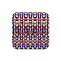 Ethnic Colorful Pattern Rubber Coaster (square)  by dflcprints