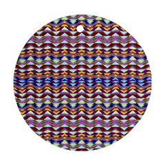 Ethnic Colorful Pattern Round Ornament (two Sides)  by dflcprints