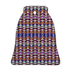 Ethnic Colorful Pattern Bell Ornament (2 Sides) by dflcprints