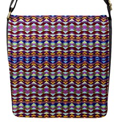 Ethnic Colorful Pattern Flap Messenger Bag (s) by dflcprints