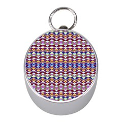 Ethnic Colorful Pattern Mini Silver Compasses by dflcprints