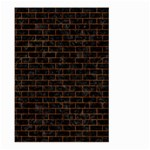 BRICK1 BLACK MARBLE & BROWN MARBLE (R) Large Garden Flag (Two Sides) Front