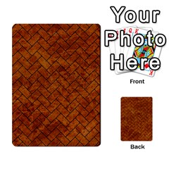 Brick2 Black Marble & Brown Marble Multi Purpose Cards (rectangle) by trendistuff