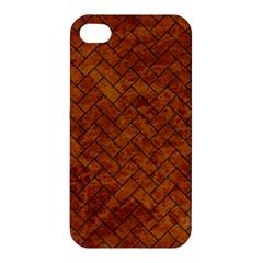 Brick2 Black Marble & Brown Marble Apple Iphone 4/4s Premium Hardshell Case by trendistuff