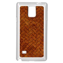 Brick2 Black Marble & Brown Marble Samsung Galaxy Note 4 Case (white) by trendistuff