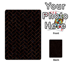 Brick2 Black Marble & Brown Marble (r) Multi Purpose Cards (rectangle) by trendistuff