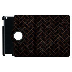 Brick2 Black Marble & Brown Marble (r) Apple Ipad 3/4 Flip 360 Case by trendistuff