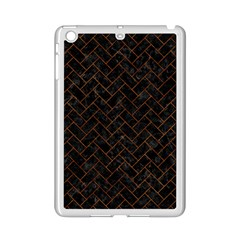 Brick2 Black Marble & Brown Marble (r) Apple Ipad Mini 2 Case (white) by trendistuff