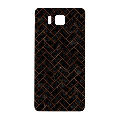 Brick2 Black Marble & Brown Marble (r) Samsung Galaxy Alpha Hardshell Back Case by trendistuff