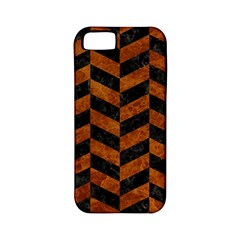Chevron1 Black Marble & Brown Marble Apple Iphone 5 Classic Hardshell Case (pc+silicone) by trendistuff