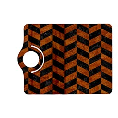 Chevron1 Black Marble & Brown Marble Kindle Fire Hd (2013) Flip 360 Case by trendistuff