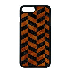 Chevron1 Black Marble & Brown Marble Apple Iphone 7 Plus Seamless Case (black)
