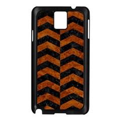 Chevron2 Black Marble & Brown Marble Samsung Galaxy Note 3 N9005 Case (black) by trendistuff