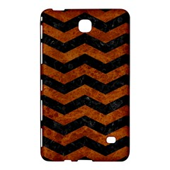 Chevron3 Black Marble & Brown Marble Samsung Galaxy Tab 4 (7 ) Hardshell Case  by trendistuff