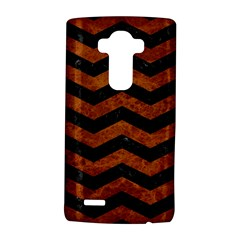 Chevron3 Black Marble & Brown Marble Lg G4 Hardshell Case by trendistuff