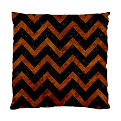 Chevron9 Black Marble & Brown Marble Standard Cushion Case (two Sides) by trendistuff