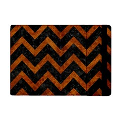 Chevron9 Black Marble & Brown Marble Apple Ipad Mini 2 Flip Case by trendistuff