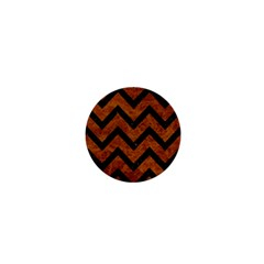 Chevron9 Black Marble & Brown Marble (r) 1  Mini Magnet by trendistuff