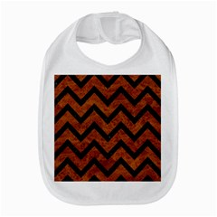 Chevron9 Black Marble & Brown Marble (r) Bib by trendistuff