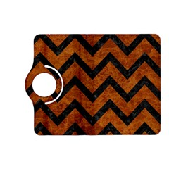 Chevron9 Black Marble & Brown Marble (r) Kindle Fire Hd (2013) Flip 360 Case by trendistuff