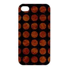 Circles1 Black Marble & Brown Marble Apple Iphone 4/4s Hardshell Case by trendistuff