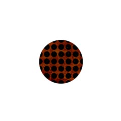 Circles1 Black Marble & Brown Marble (r) 1  Mini Button by trendistuff