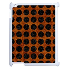 Circles1 Black Marble & Brown Marble (r) Apple Ipad 2 Case (white) by trendistuff