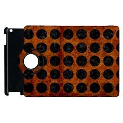 Circles1 Black Marble & Brown Marble (r) Apple Ipad 2 Flip 360 Case by trendistuff