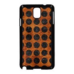 Circles1 Black Marble & Brown Marble (r) Samsung Galaxy Note 3 Neo Hardshell Case (black) by trendistuff