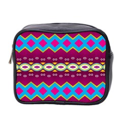 Rhombus And Ovals Chains                                                                                                               Mini Toiletries Bag (two Sides) by LalyLauraFLM