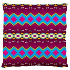 Rhombus And Ovals Chains                                                                                                               	large Flano Cushion Case (two Sides) by LalyLauraFLM
