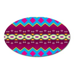 Rhombus And Ovals Chains                                                                                                               magnet (oval)