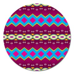 Rhombus And Ovals Chains                                                                                                               magnet 5  (round) by LalyLauraFLM