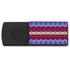 Rhombus And Ovals Chains                                                                                                               			usb Flash Drive Rectangular (4 Gb) by LalyLauraFLM