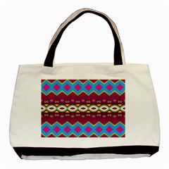 Rhombus And Ovals Chains                                                                                                               basic Tote Bag by LalyLauraFLM