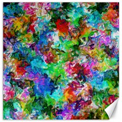 Colorful Strokes                                                                                                                			canvas 16  X 16  by LalyLauraFLM