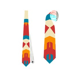 Mirrored Shapes In Retro Colors                                                                                                                 Necktie by LalyLauraFLM