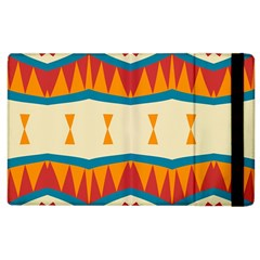 Mirrored Shapes In Retro Colors                                                                                                                			apple Ipad 3/4 Flip Case by LalyLauraFLM