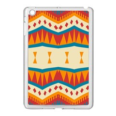 Mirrored Shapes In Retro Colors                                                                                                                apple Ipad Mini Case (white) by LalyLauraFLM