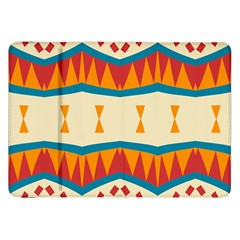 Mirrored Shapes In Retro Colors                                                                                                                samsung Galaxy Tab 8 9  P7300 Flip Case by LalyLauraFLM