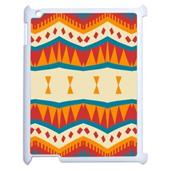Mirrored Shapes In Retro Colors                                                                                                                			apple Ipad 2 Case (white) by LalyLauraFLM