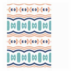 Shapes And Waves                                                                                                                  Small Garden Flag by LalyLauraFLM