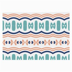 Shapes And Waves                                                                                                                  			large Glasses Cloth by LalyLauraFLM